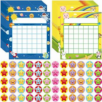 60 Classroom Incentive Chart in 2 Designs Space and Animal