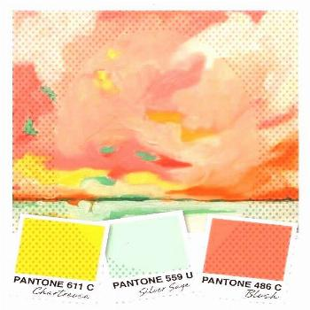 and Coral Color Palette - Sarah HeartsYou can find Chartreuse color palette and more on our website