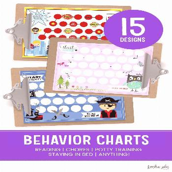 Behavior Charts for Kids Behavior Charts your kids will love to use, especially for the new year an