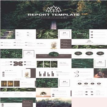 Best natural ecosystem report PowerPoint template -