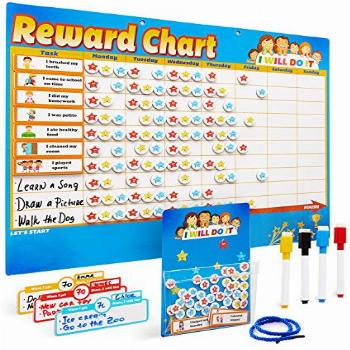 Chores Chart for Multiple Kids - Magnetic Responsibility