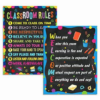 Classroom Rules Poster Motivational Poster idea for