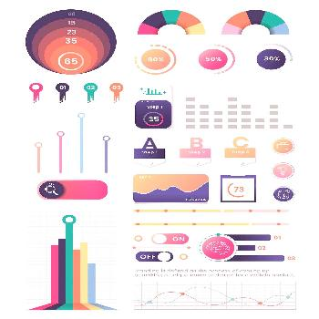 Colorful infographic element design vector | premium image by  / taus
