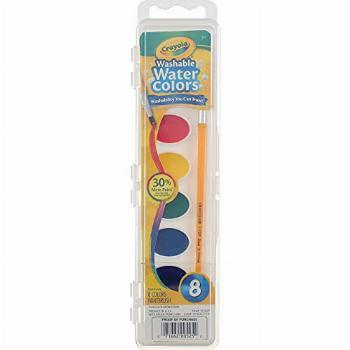 Crayola Washable Watercolor Paints, 8 Primary Colors (Pack