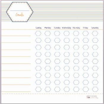 Free Printable Goal Charts for Kids by Just a Girl and Her Blog