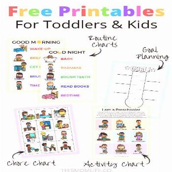 Free Printables for Kids I love these free printable templates for kids and toddlers!  Parents if y