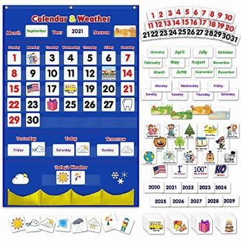 Godery Calendar and Weather Pocket Chart, Classroom