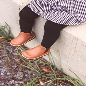 Handcrafted leather slip on boot for kids