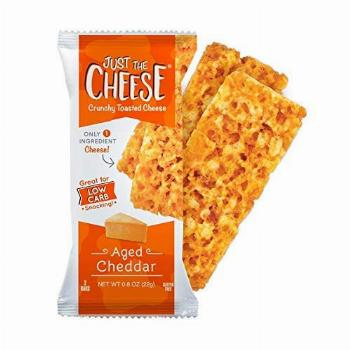 Just the Cheese Bars, Crunchy Baked Low Carb Snack Bars.