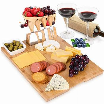 MH ZONE Bamboo Cheese Board Set (Upgrade Type 16