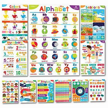 Sproutbrite Educational Posters for Toddlers - Classroom