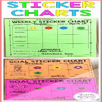 Sticker charts for rewarding positive behavior These sticker charts include blank charts goal chart