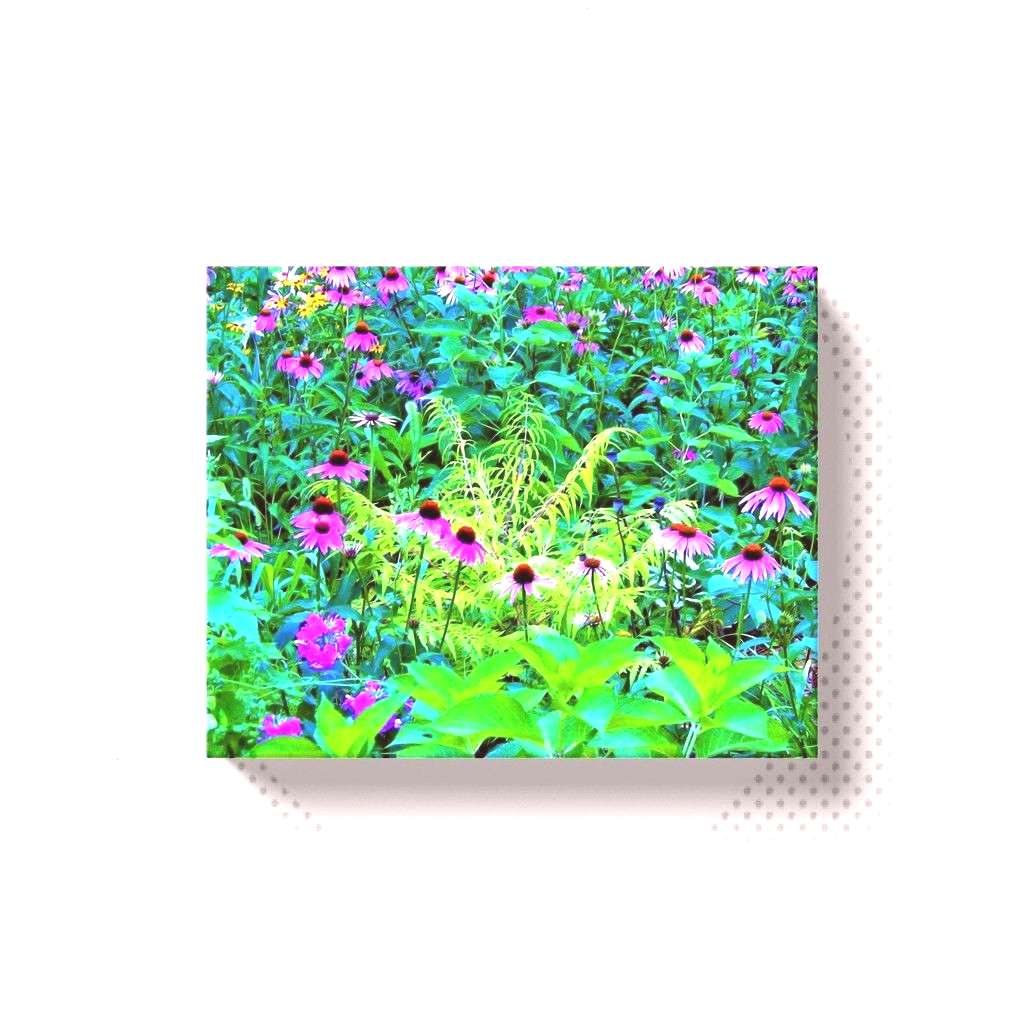 Canvas Wraps, Purple Coneflower Garden with Chartreuse Foliage#canvasYou can find Chartreuse and mo