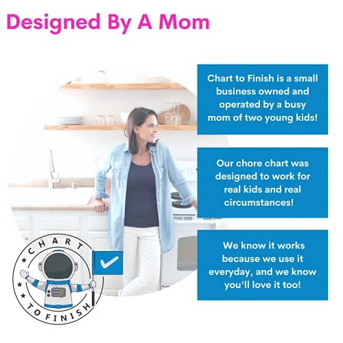 Chore Chart - Magnetic Chore Chart Attaches to Magnetic