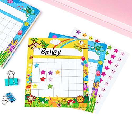 Pack of 66 Incentive Chart with 2080 Reward Star Stickers